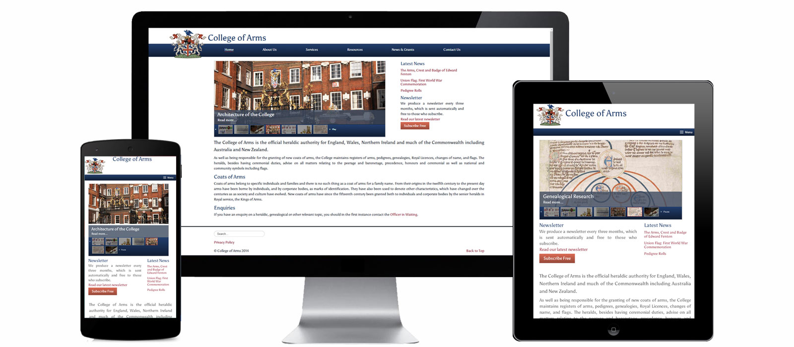 Website for College of Arms