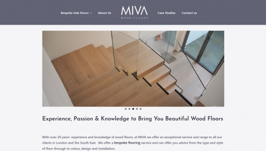 MIVA Wood Floors // Website Launch
