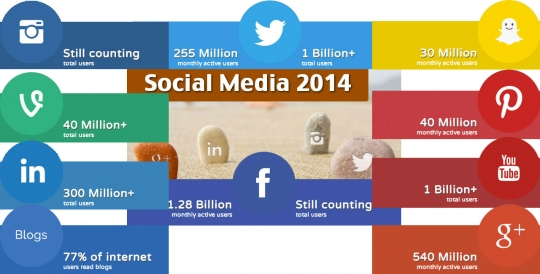 Social Media Stats 2014 [Infographic]