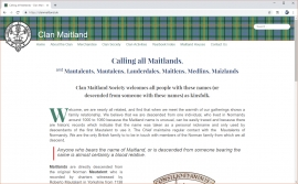 Clan Maitland // Website Launch