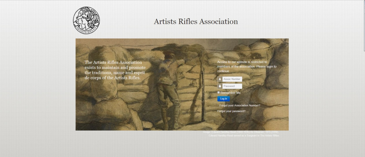 Artists Rifles Association // Website Launch