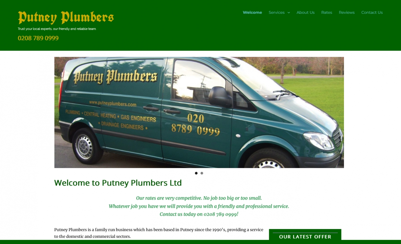 PutneyPlumbers // Website Launch